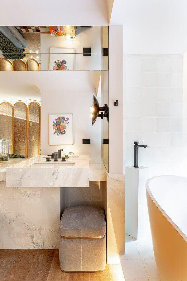 Marmorato em banheiro sofisticado