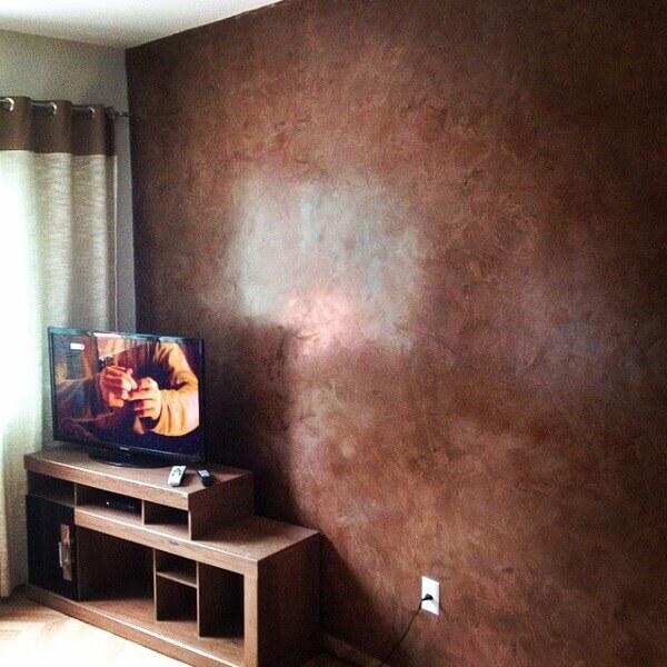 Marmorato marrom na sala