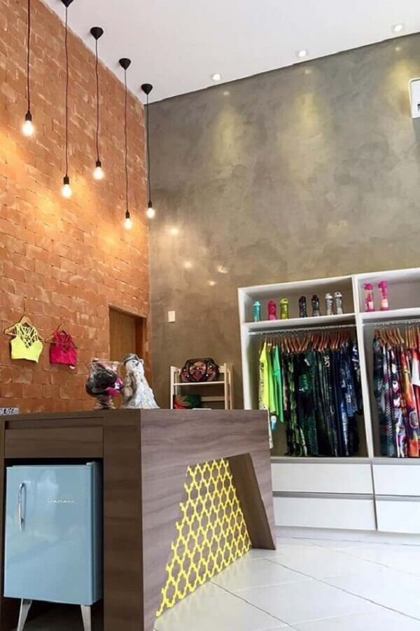 Marmorato para lojas de roupas