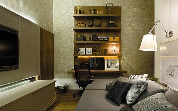 Marmorizada textura em sala