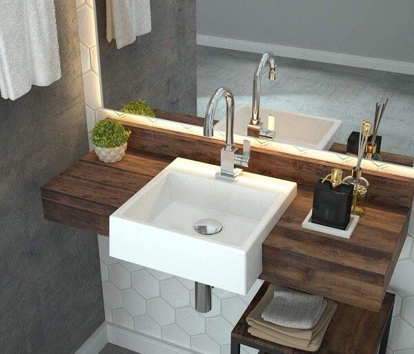 Modelo de cuba para banheiro de semi encaixe