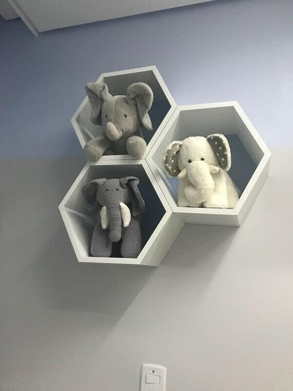 Nichos para quarto de bebê com elefantinhos