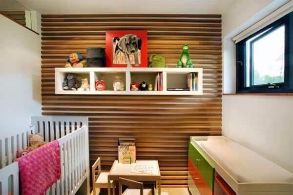 Nichos para quarto de bebê decoram o ambiente