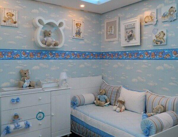 Nichos para quarto de bebê em formato de ursinho