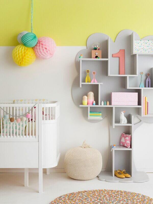 Nichos para quarto de bebê moderno