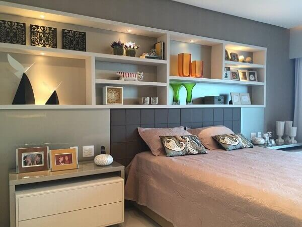 Nichos para quarto de casal de parede