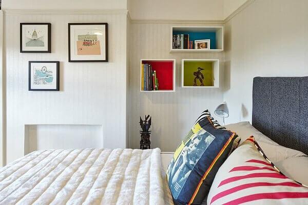 Nichos para quarto de casal para colocar itens decorativos