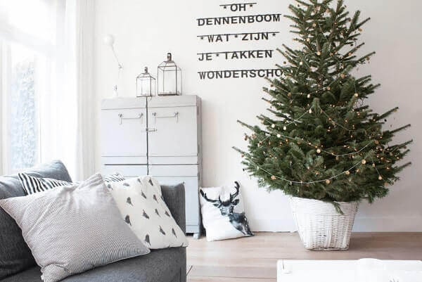 Pinheiro de natal em salas de estar