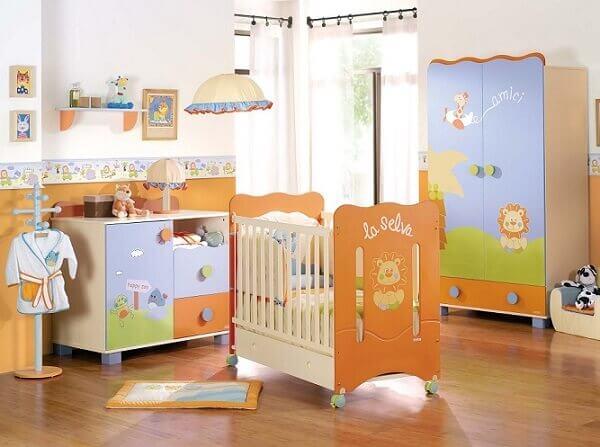 Quarto de bebê masculino móveis personalizados