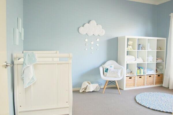Quarto de bebê masculino na cor azul claro
