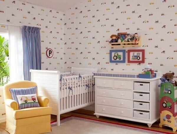 Quarto de bebê masculino papel de parede