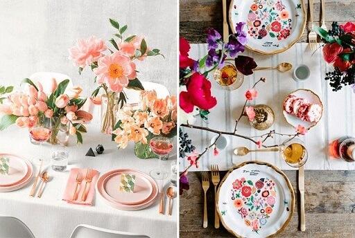 Saiba como montar mesa de jantar com arranjos floridos