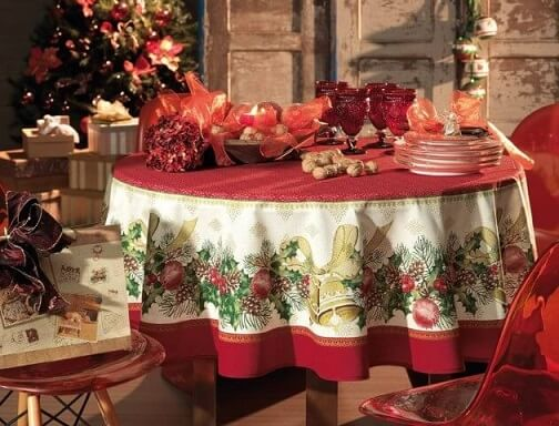 Toalha de mesa natalina para ceia de natal Foto de Karsten
