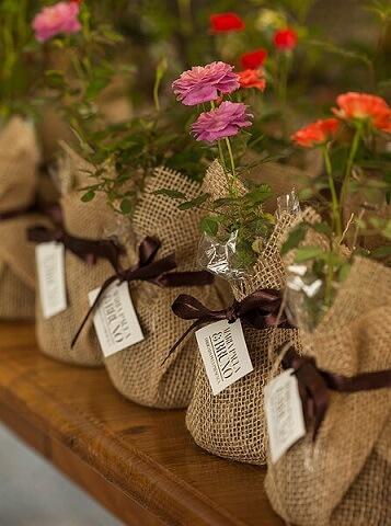Vasos de flores em decoração de jardim encantado Foto de Happy Wedding