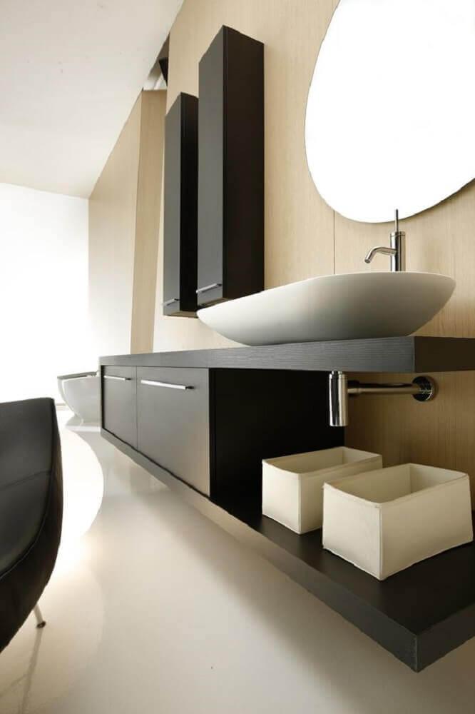 armário planejado para banheiro moderno Foto Pinterest