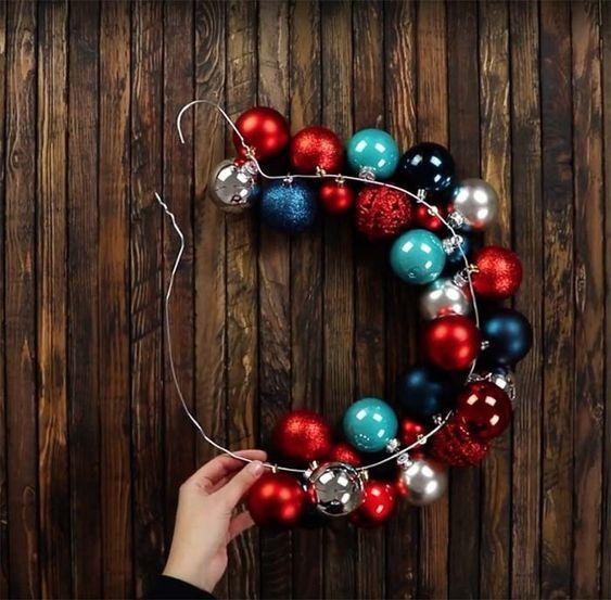bolas de natal - arranjo com bolas de natal