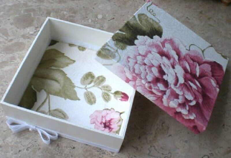 caixa de madeira decorada Foto Pinterest