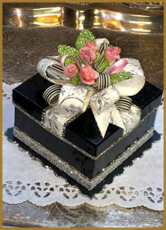 caixa de mdf para casamento preta Foto Patricia Minish Designs