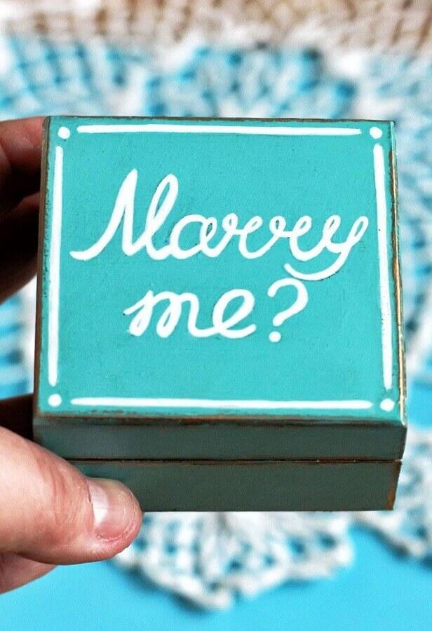 caixinha de mdf decorada para pedido de casamento Foto Dekoration stile