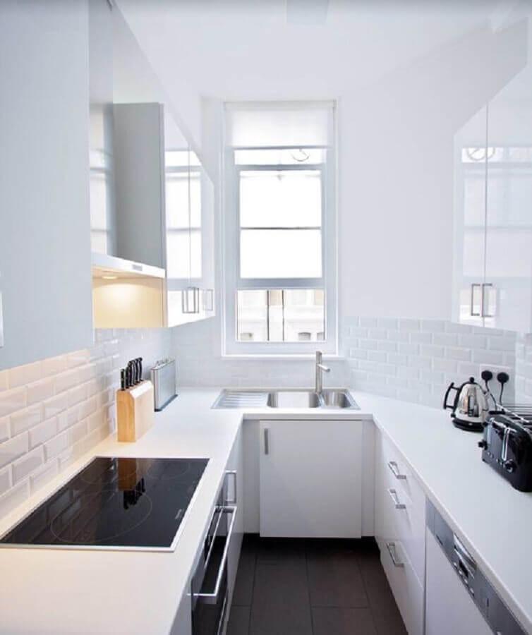 cozinhas pequenas planejadas com decoração simples Foto Yandex