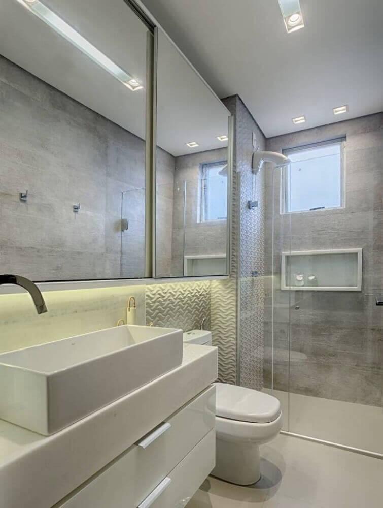 decoração banheiro planejado moderno e pequeno Foto Pinterest