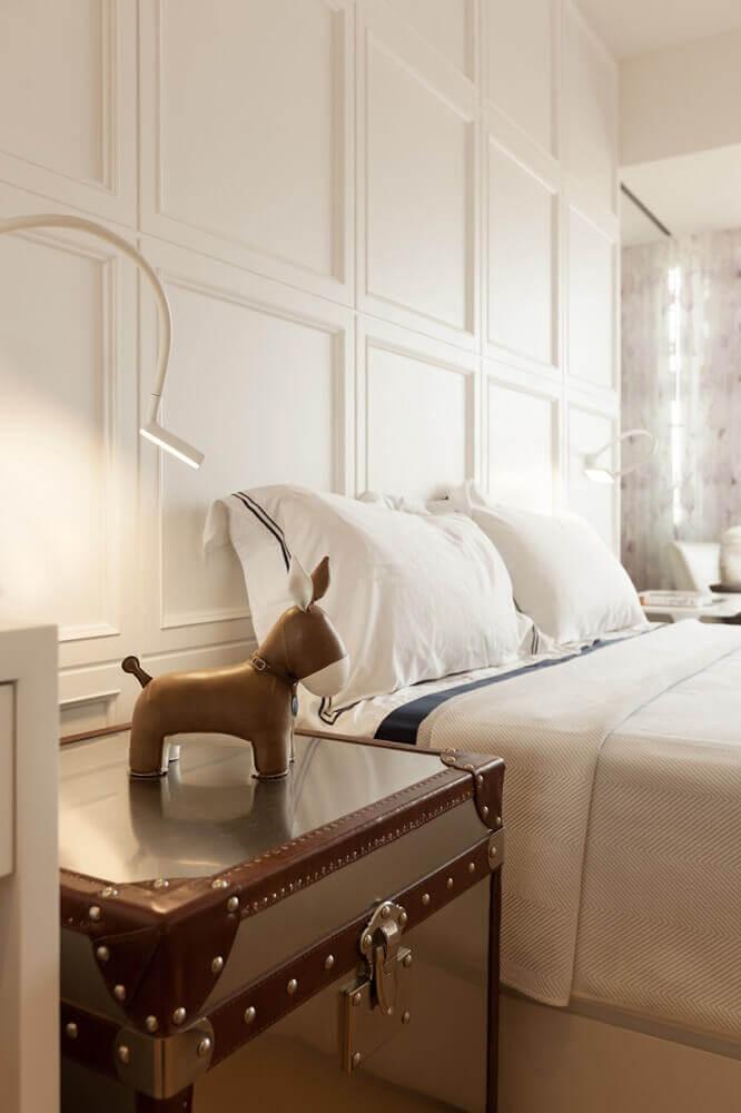 decoração clean para quarto com moldura de parede Foto Interior Design Ideas
