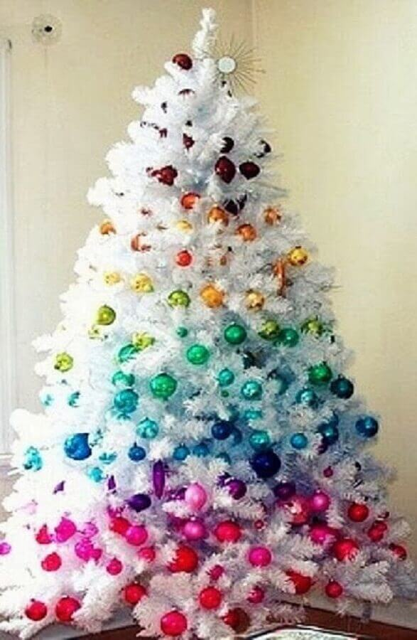 colourful decoration for white Christmas tree Foto Hare Maristeit