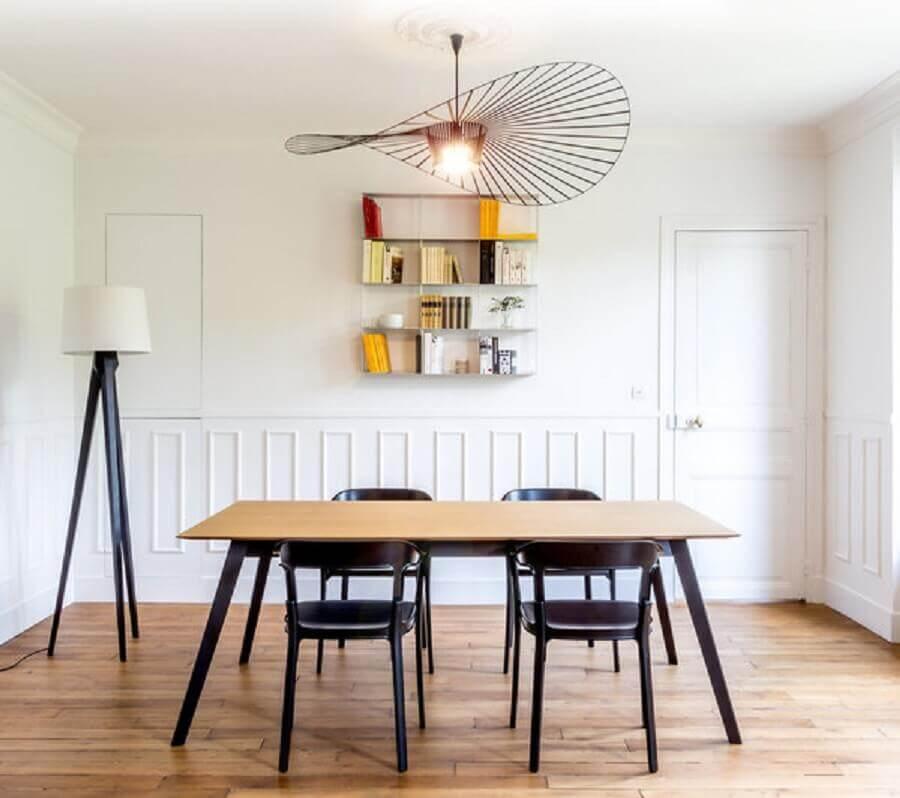 decoração com lustres modernos para sala de jantar Foto Maison