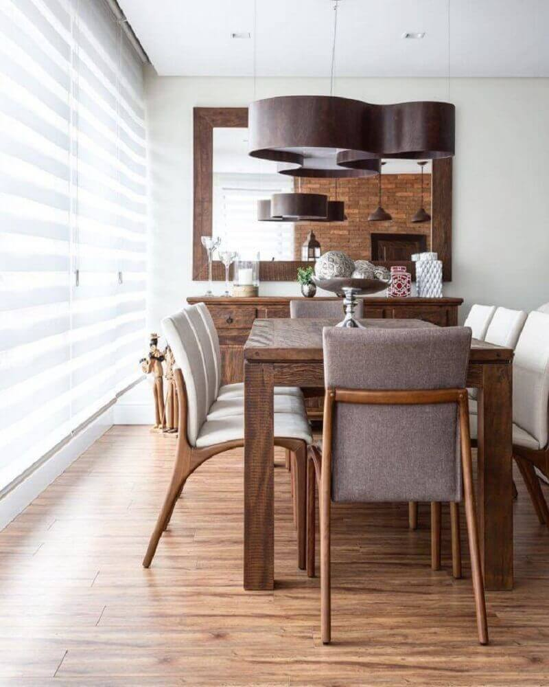 Sala de Jantar Moderna Saiba como Decorar +65 Modelos -> Decoraçao De Sala De Jantar Moderna
