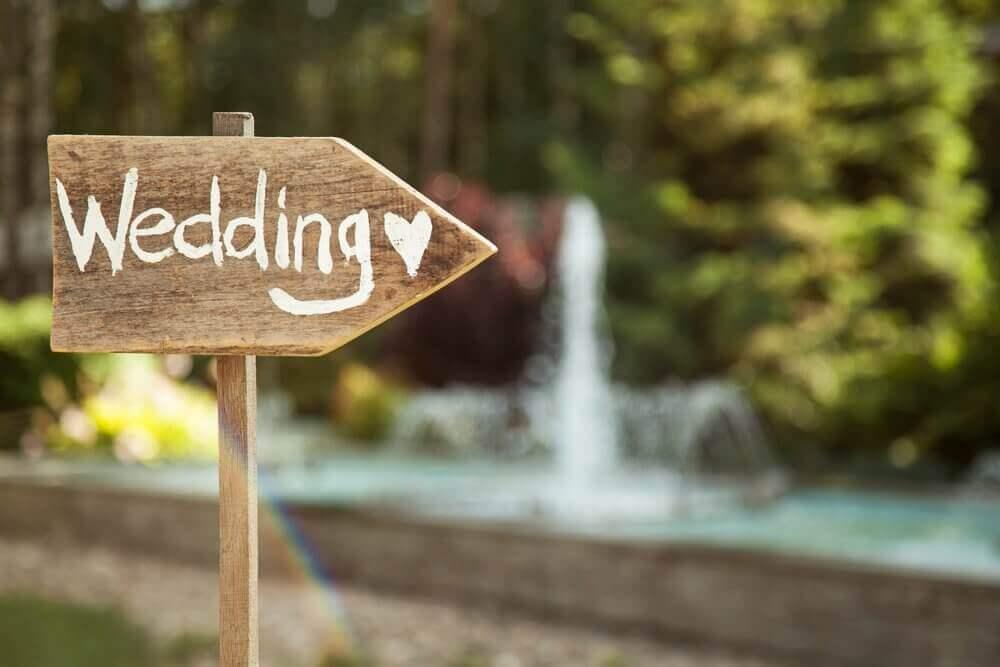 decoração com plaquinha para casamento Foto Quero de Casamento