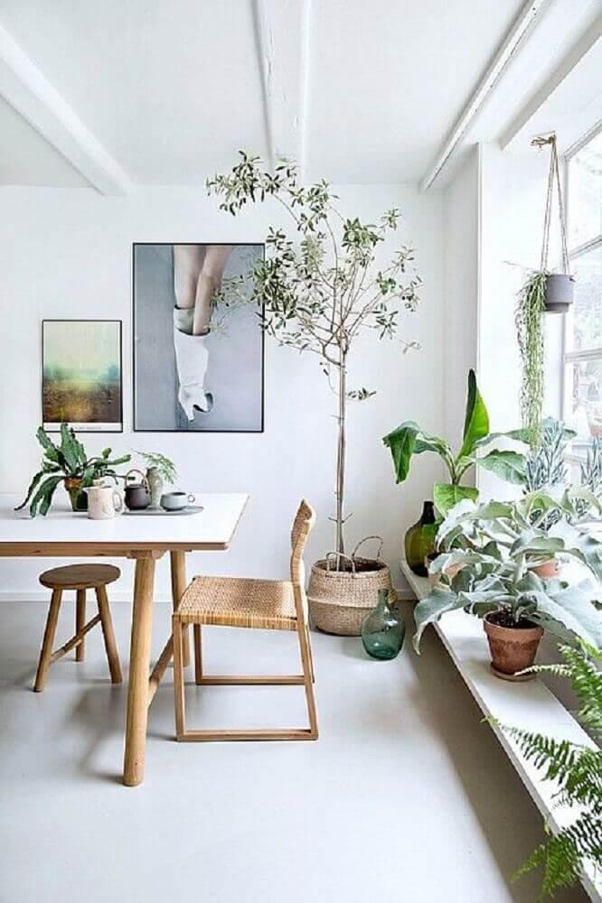 decoração de sala de jantar moderna com estilo escandinavo Foto Pinterest