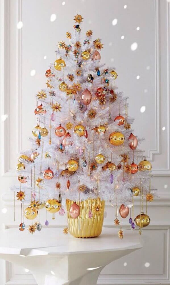 decoration for small white Christmas tree Foto Pinterest