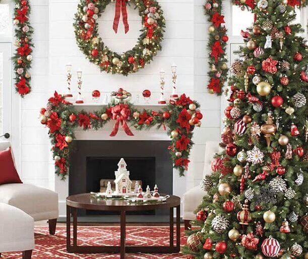 decoração para árvore de natal tradicional Foto Design sem Neura