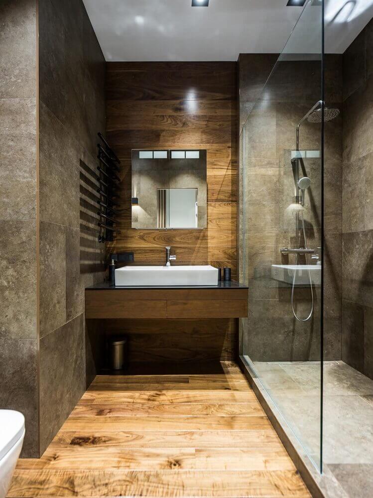 decoração para banheiro planejado moderno Foto Pinterest