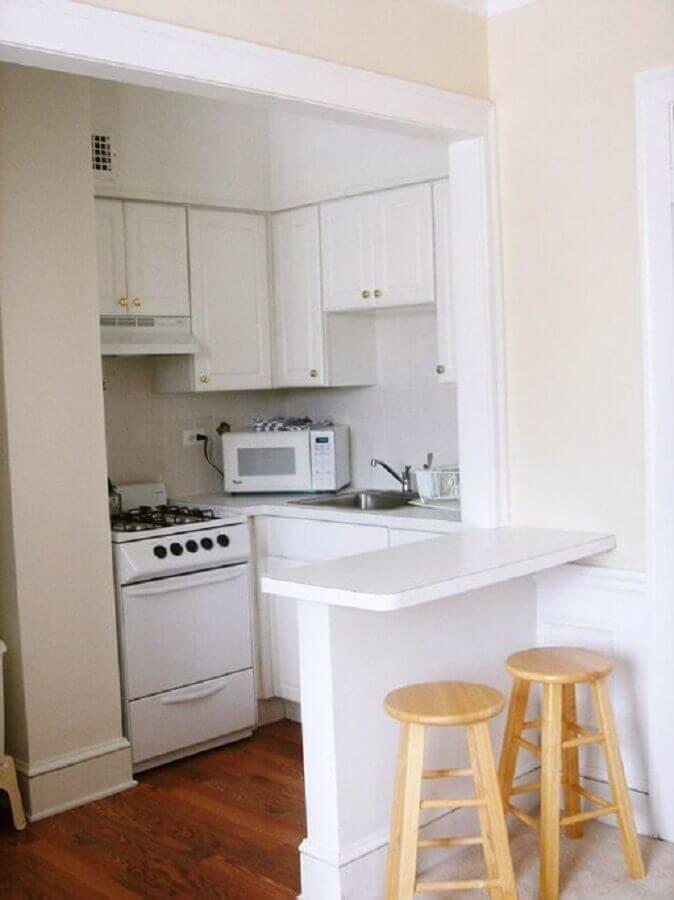 decoração simples para cozinha planejada para apartamento pequeno Foto Pinterest