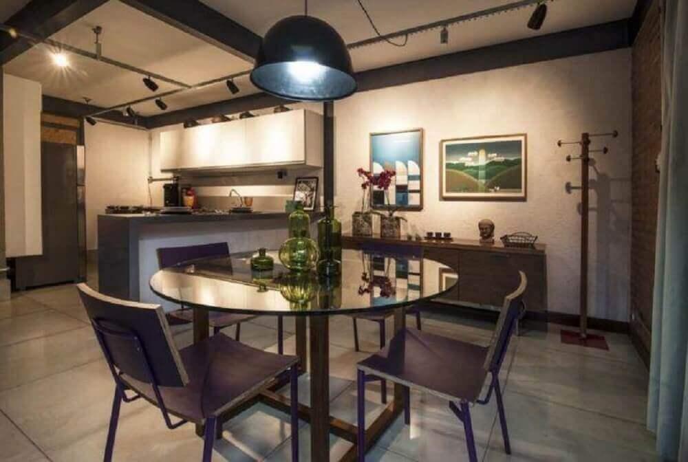 decoração simples para sala de jantar moderna Foto Leandro Bocchio