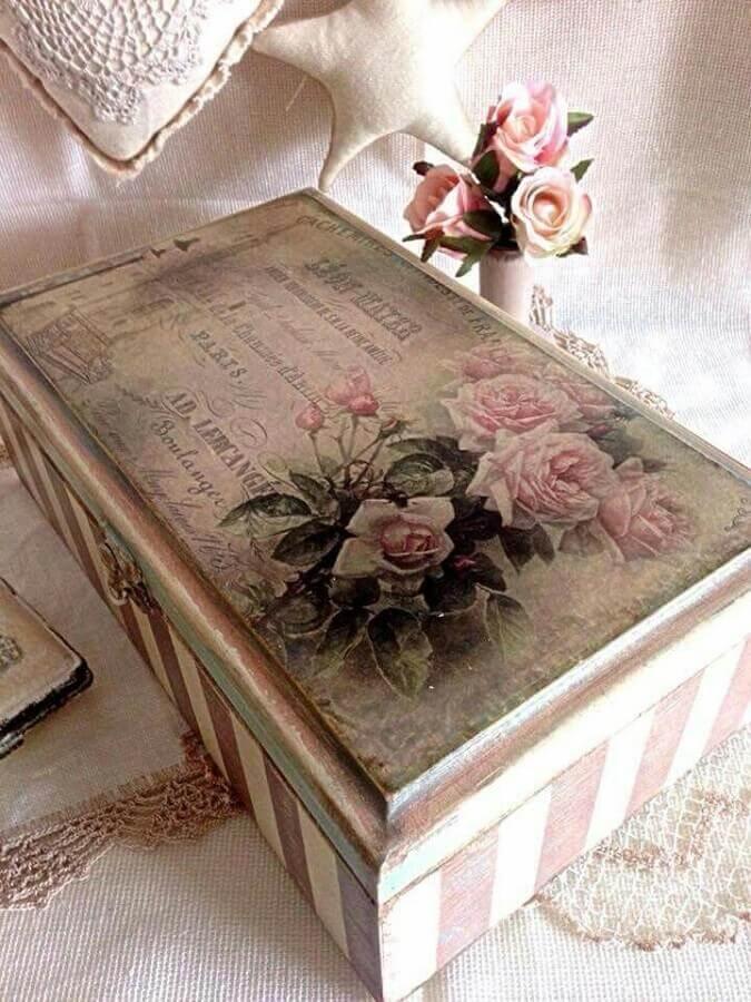 decoupage para caixa de mdf decorada Foto Pinterest