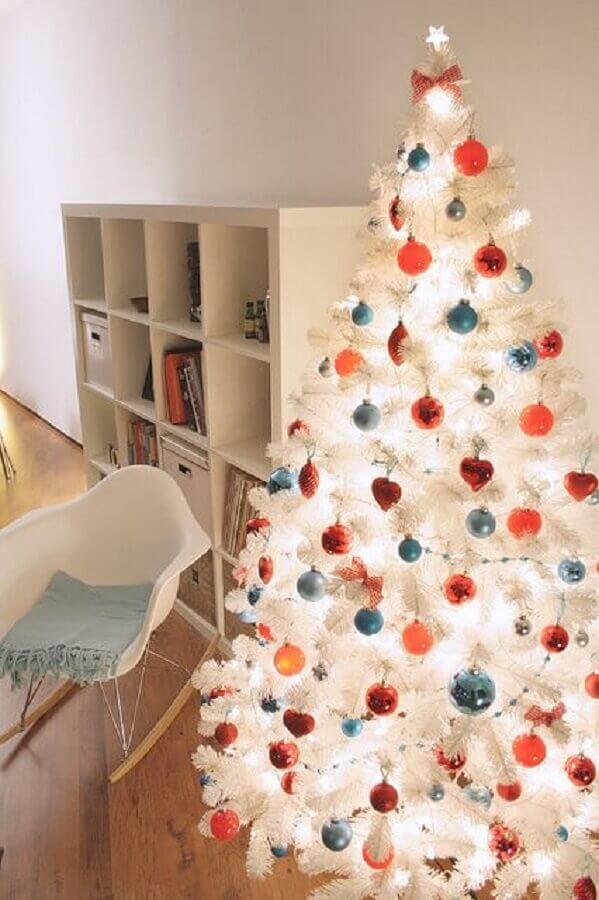 colorful christmas tree decorations for white christmas Photo Pinterest