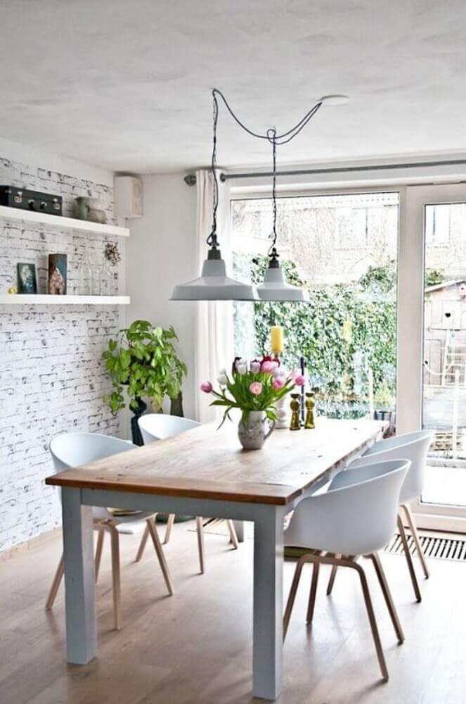 estilo escandinavo para decoração de sala de jantar moderna Foto Archzine