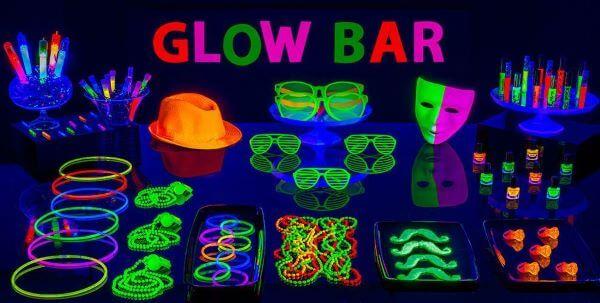 Festa neon para decoração simples