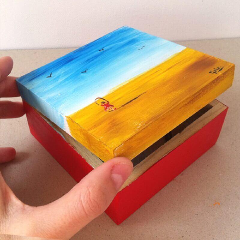 ideia colorida para caixinha de mdf decorada Foto Maria Faci