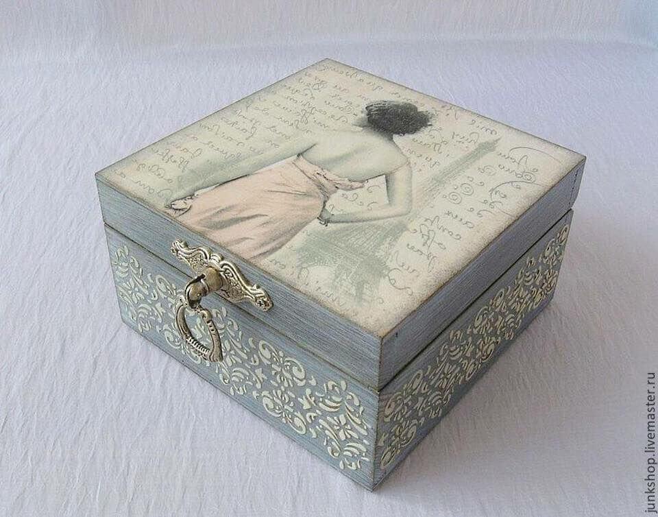 ideia de caixa de MDF decorada Foto Pinterest