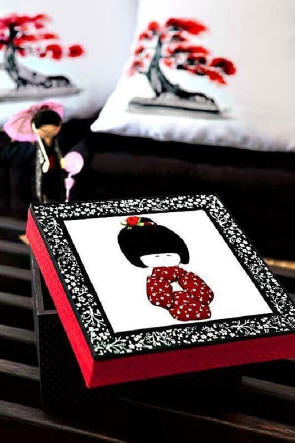 linda caixa de MDF decorada Foto Tinbaihay