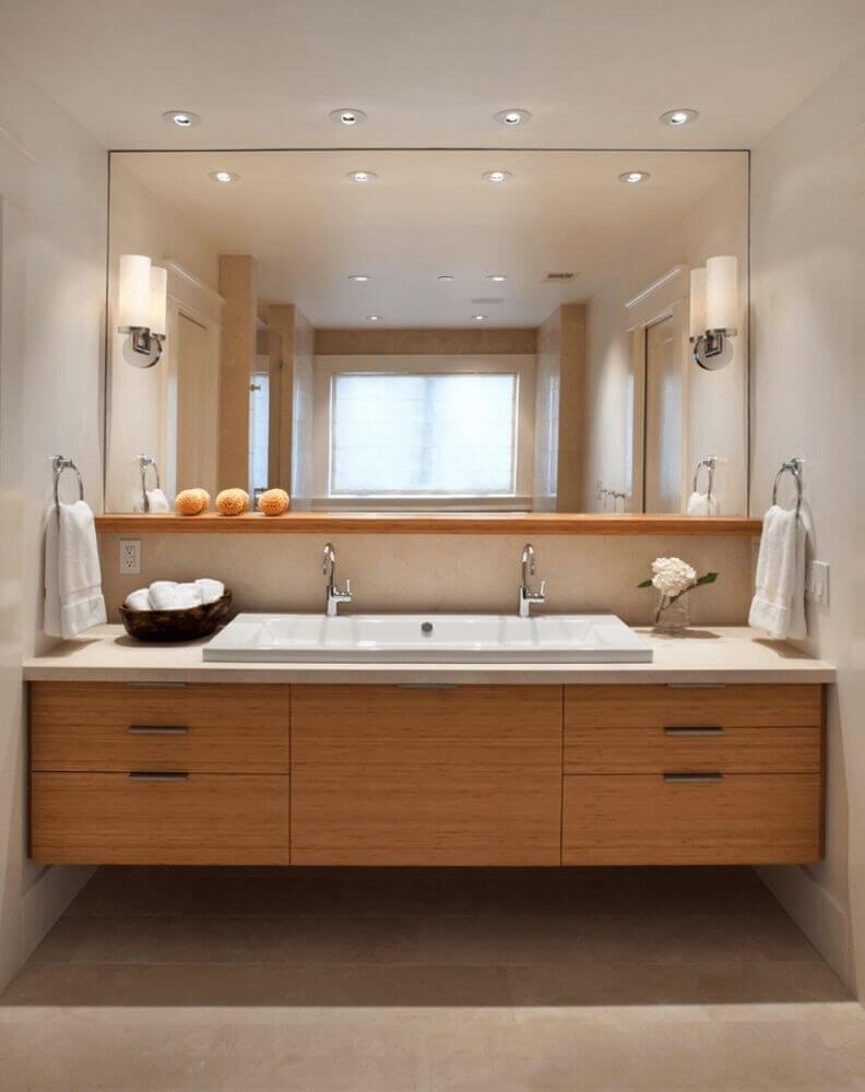 móveis planejados para banheiro em madeira Foto Archilovers