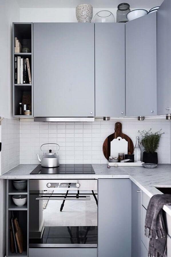 modelo de armário para cozinha planejada para apartamento pequeno Foto Pinterest