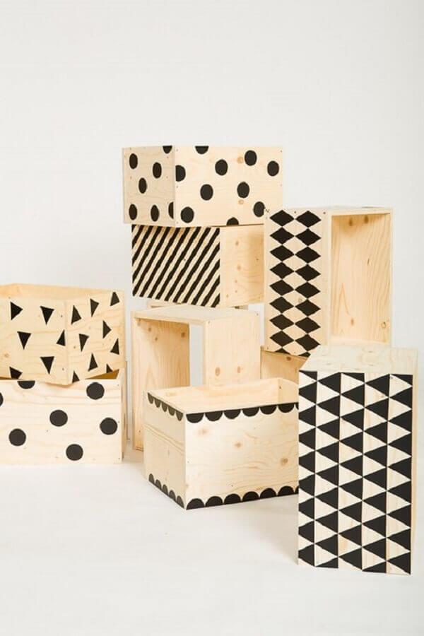 modelo de caixa de MDF decorada moderna Foto J'Aime La Déco