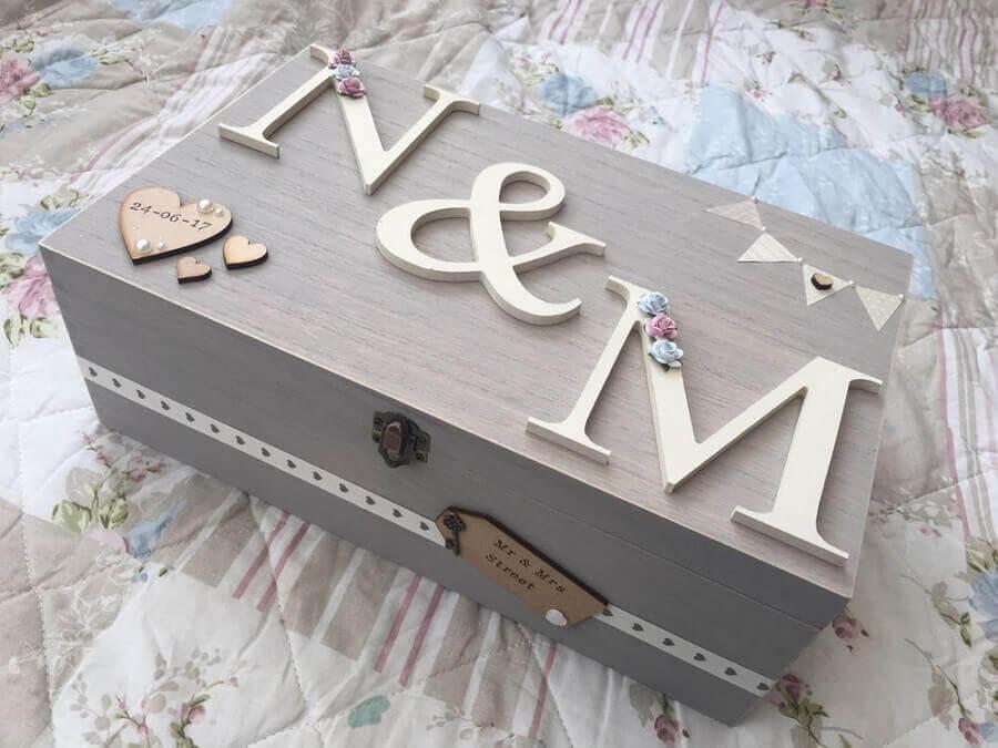 modelo de caixa de mdf para casamento Foto Pinterest