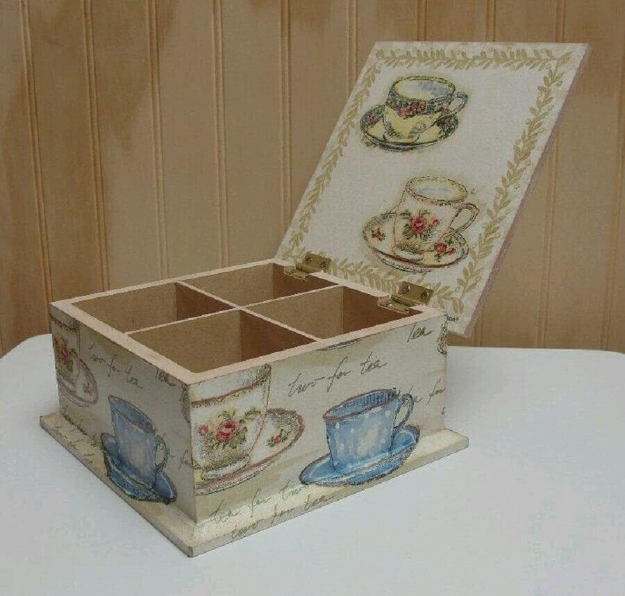 modelo de caixinha de mdf decorada com estilo antigo Foto Pinterest