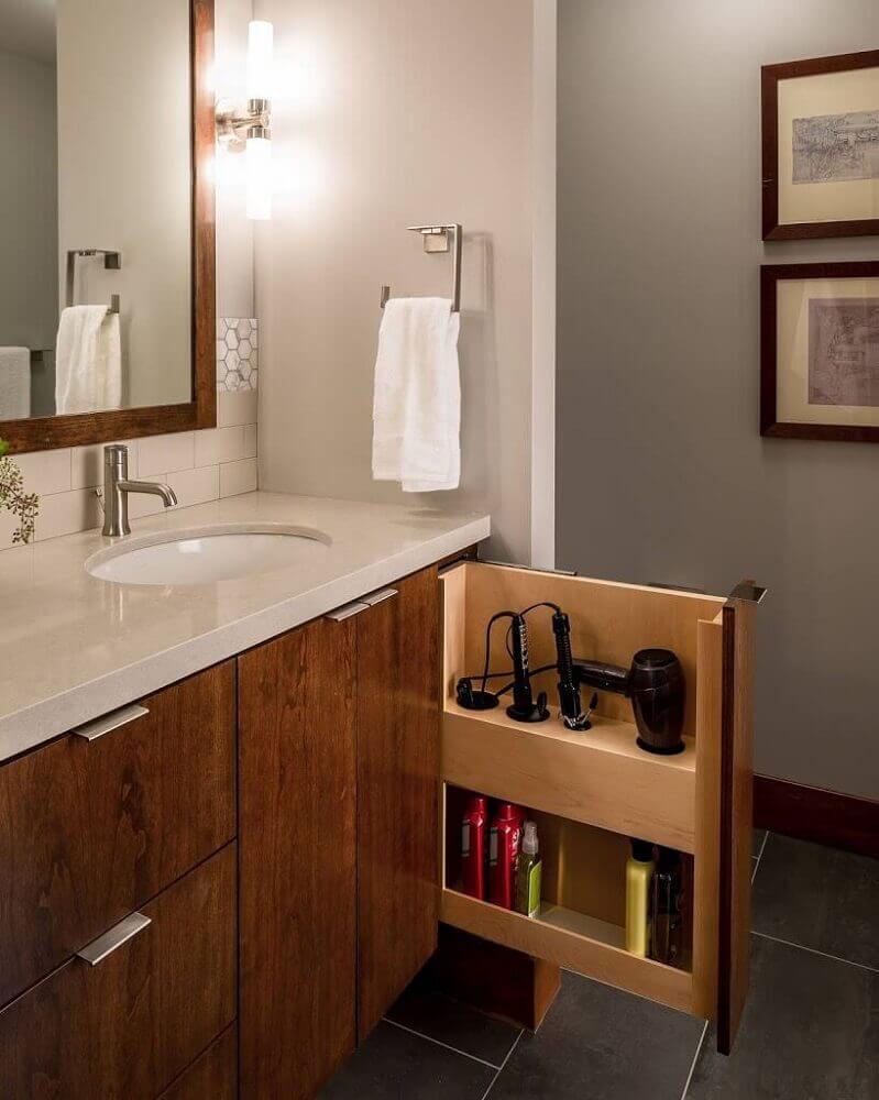 modelo de móveis planejados para banheiro Foto My Romodel