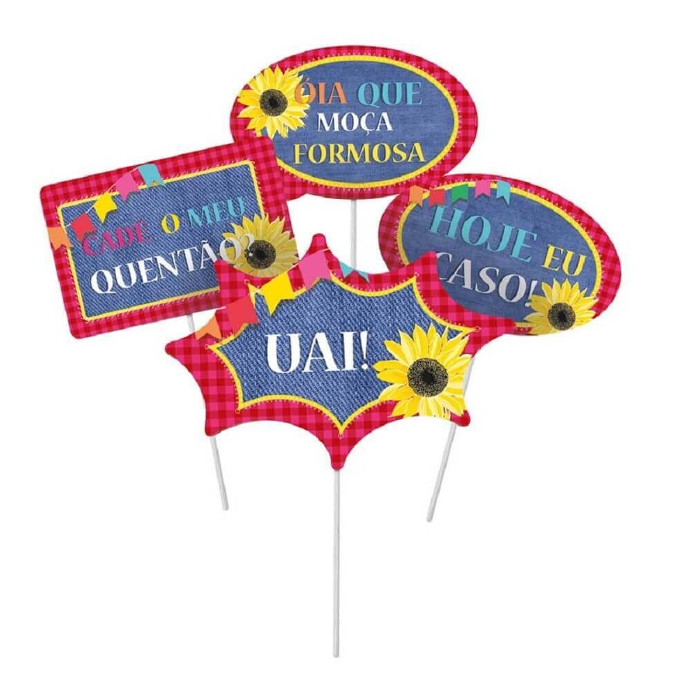 1ab44ca743056f Plaquinhas para Festa: Confira +67 Modelos e Dicas de Frase
